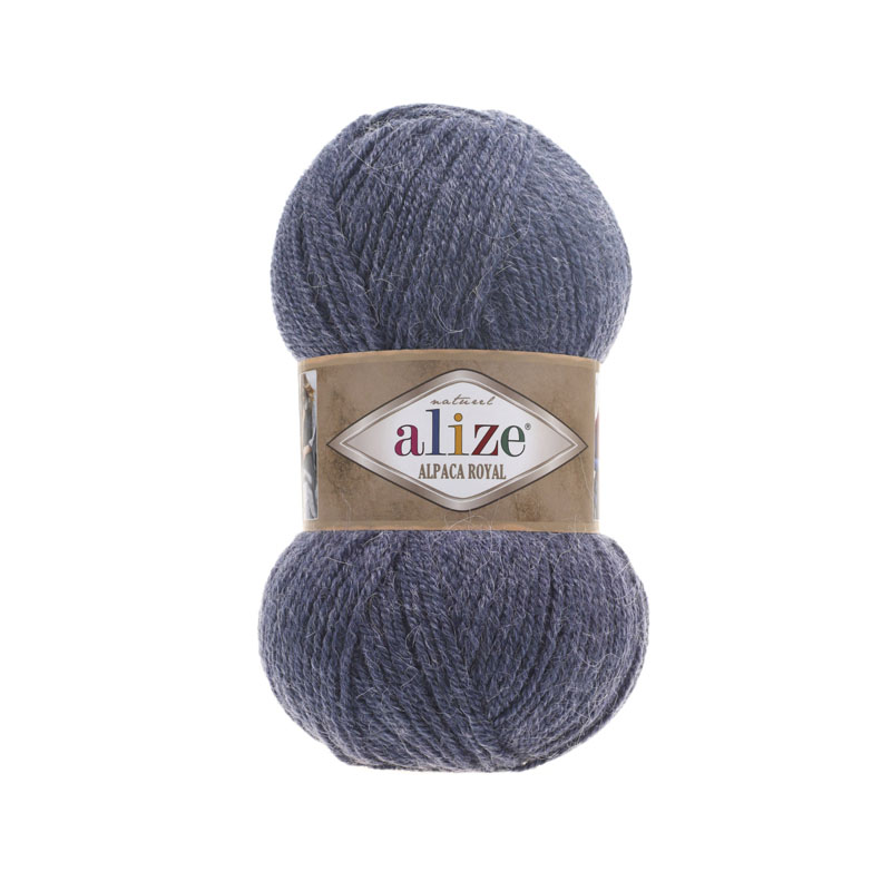 Alize Alpaca Royal цвет джинс меланж 203